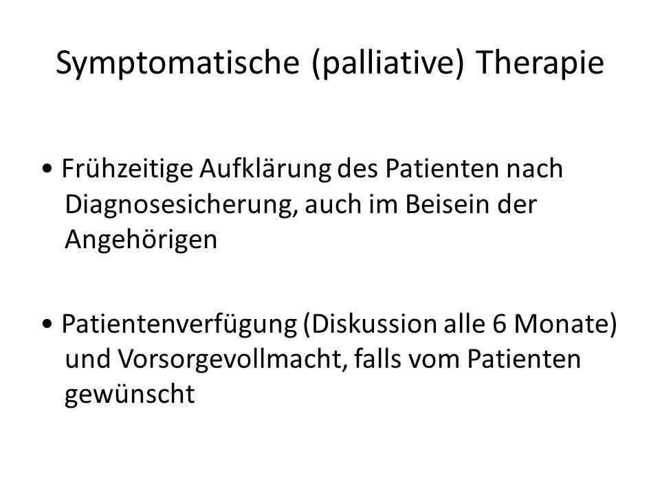Symptomatische (palliative) Therapie