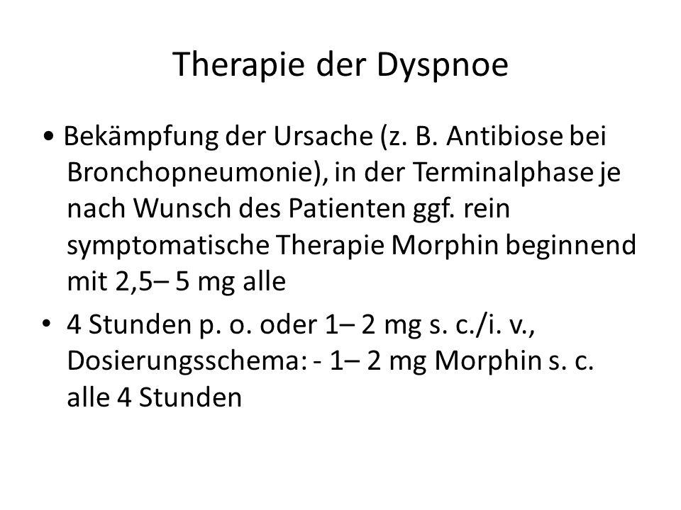 Therapie der Dyspnoe