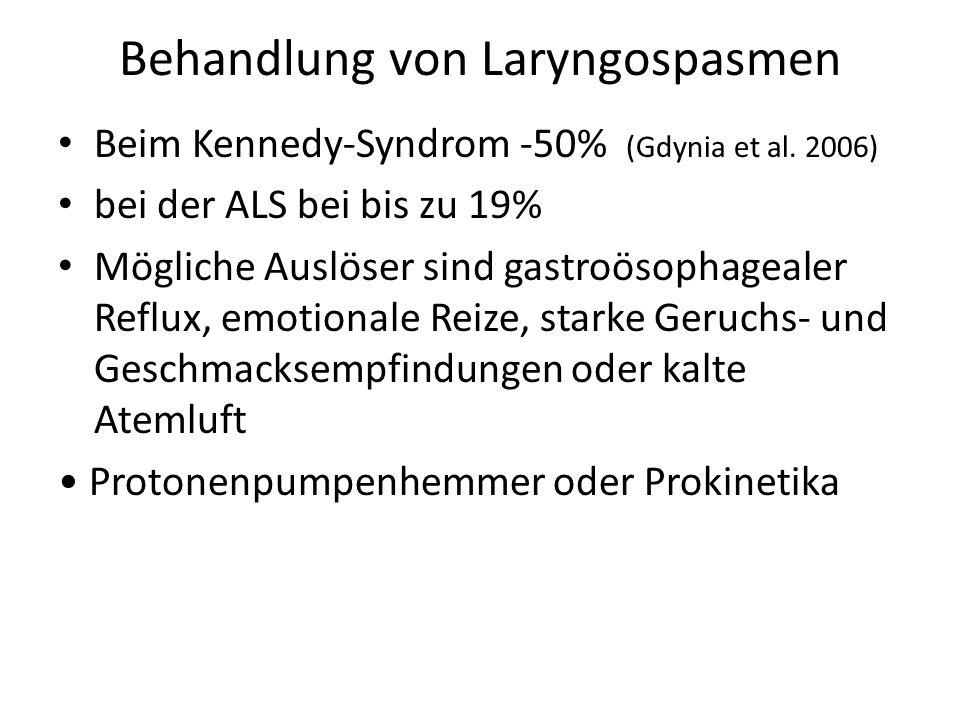 Behandlung von Laryngospasmen