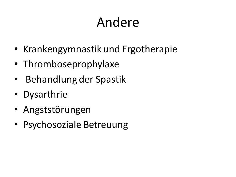 Andere Krankengymnastik und Ergotherapie Thromboseprophylaxe