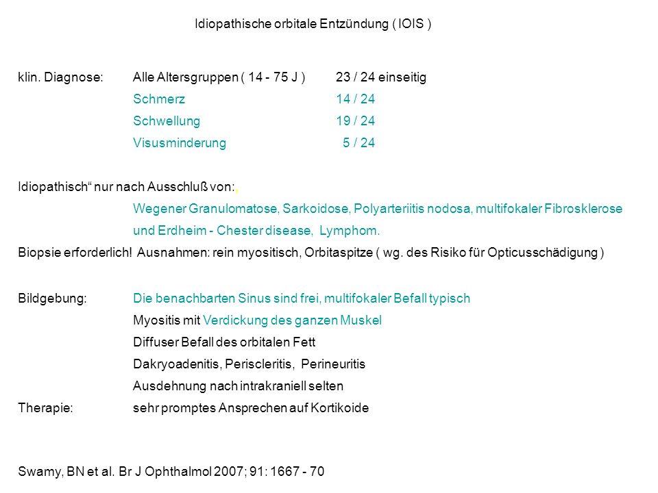 Idiopathische orbitale Entzündung ( IOIS )