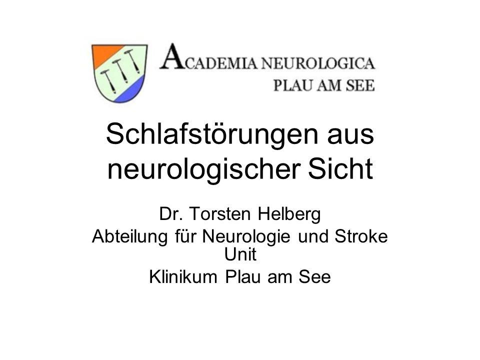 Schlafstörungen aus neurologischer Sicht
