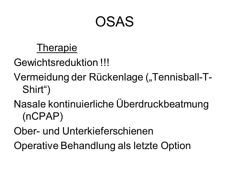 OSAS Therapie Gewichtsreduktion !!!