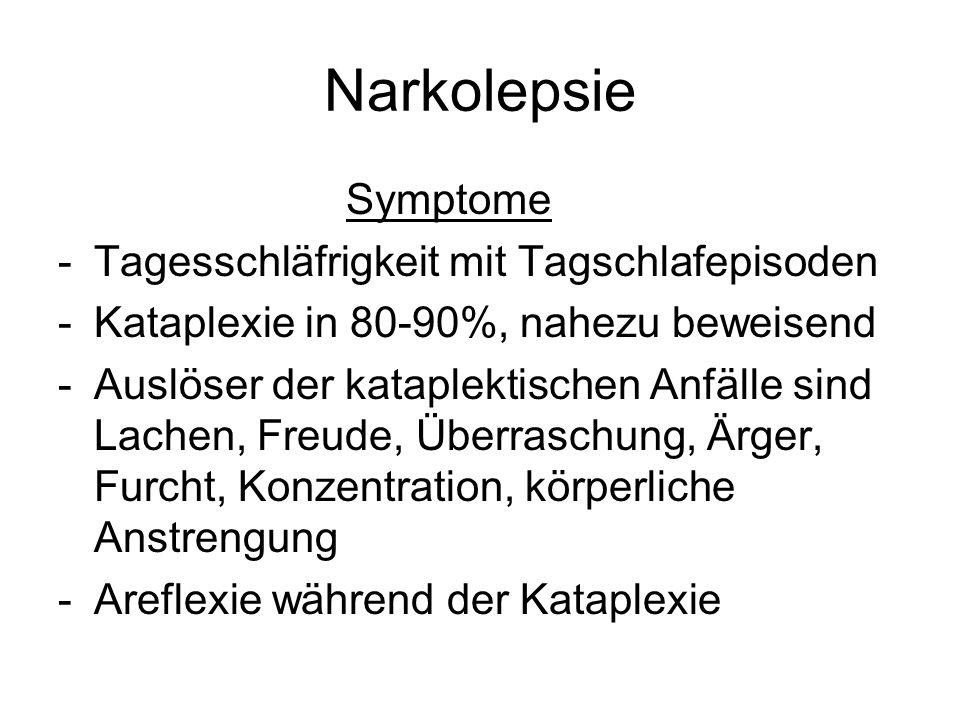Narkolepsie Symptome Tagesschläfrigkeit mit Tagschlafepisoden