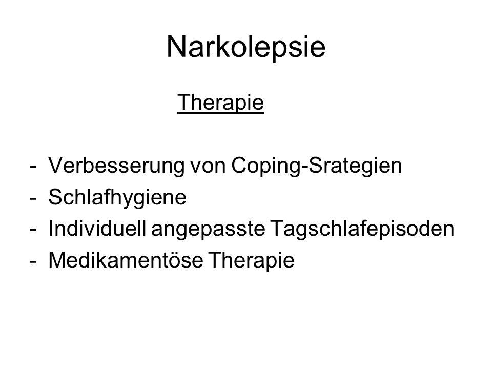 Narkolepsie Therapie Verbesserung von Coping-Srategien Schlafhygiene