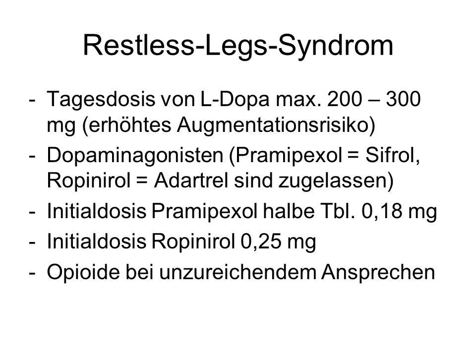Restless-Legs-Syndrom