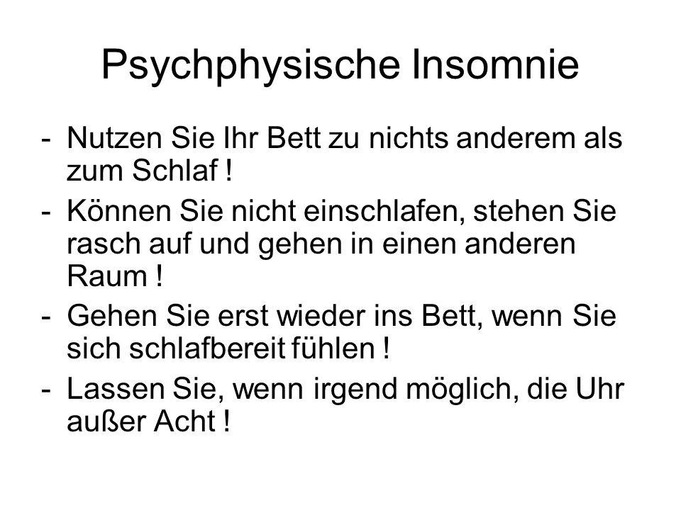 Psychphysische Insomnie
