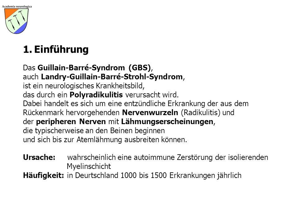 1. Einführung Das Guillain-Barré-Syndrom (GBS),