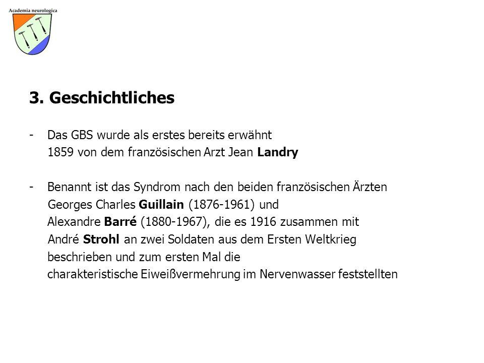 3. Geschichtliches - Das GBS wurde als erstes bereits erwähnt