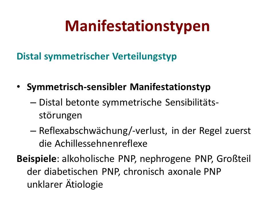 Manifestationstypen Distal symmetrischer Verteilungstyp
