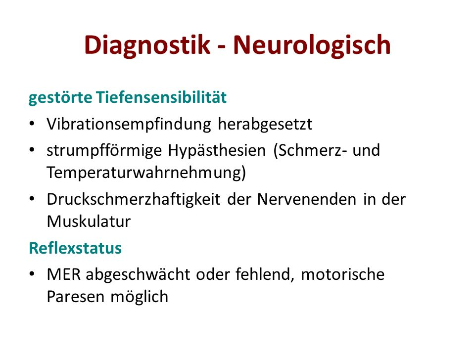 Diagnostik - Neurologisch
