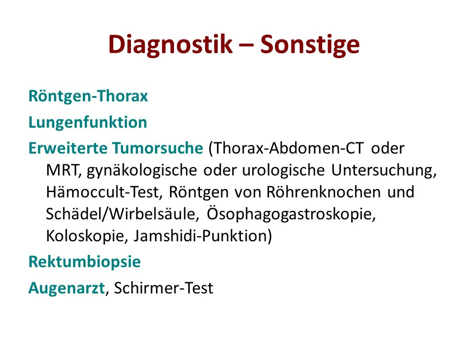 Diagnostik – Sonstige Röntgen-Thorax Lungenfunktion