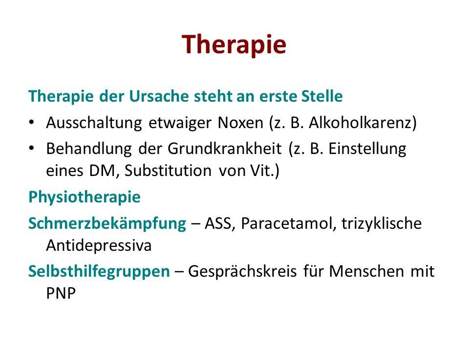 Therapie Therapie der Ursache steht an erste Stelle