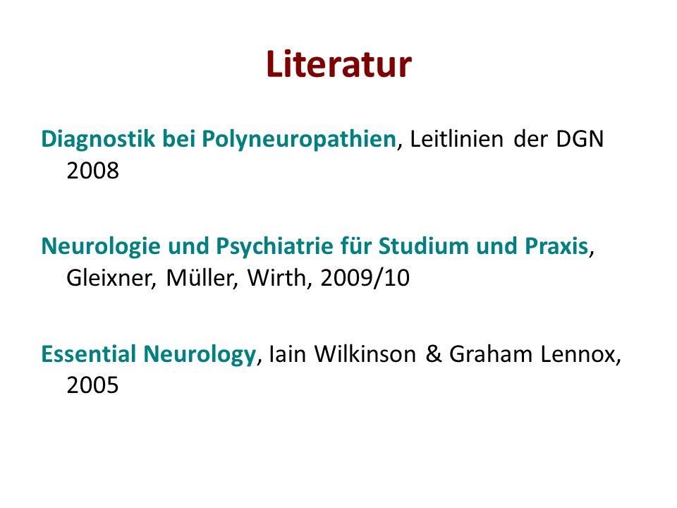 Literatur Diagnostik bei Polyneuropathien, Leitlinien der DGN 2008