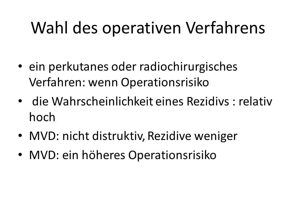 Wahl des operativen Verfahrens
