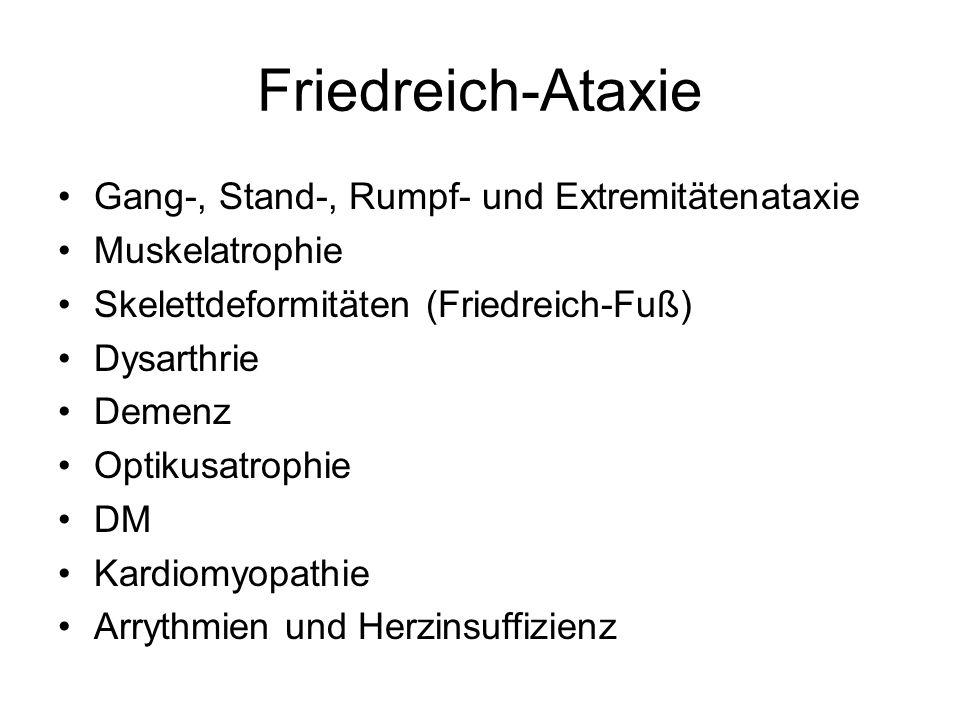 Friedreich-Ataxie Gang-, Stand-, Rumpf- und Extremitätenataxie