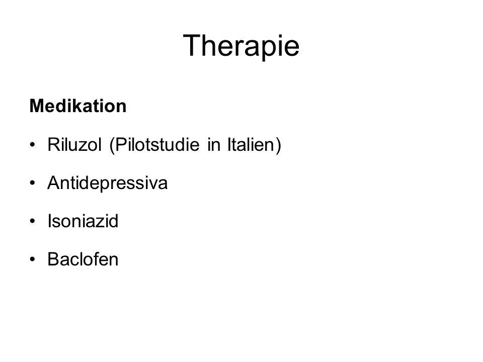 Therapie Medikation Riluzol (Pilotstudie in Italien) Antidepressiva