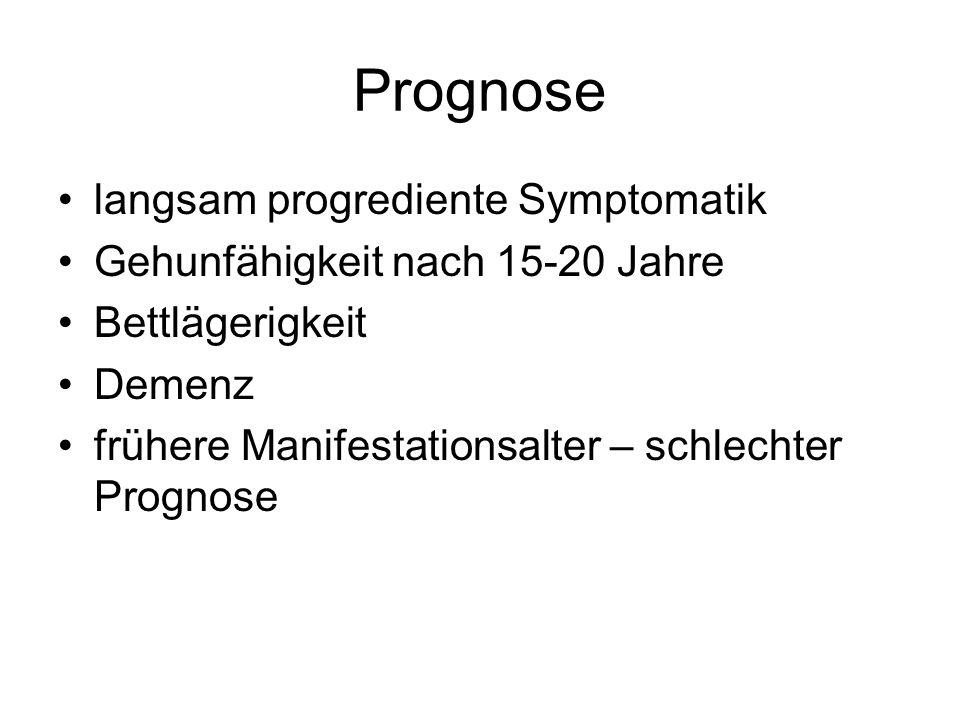 Prognose langsam progrediente Symptomatik