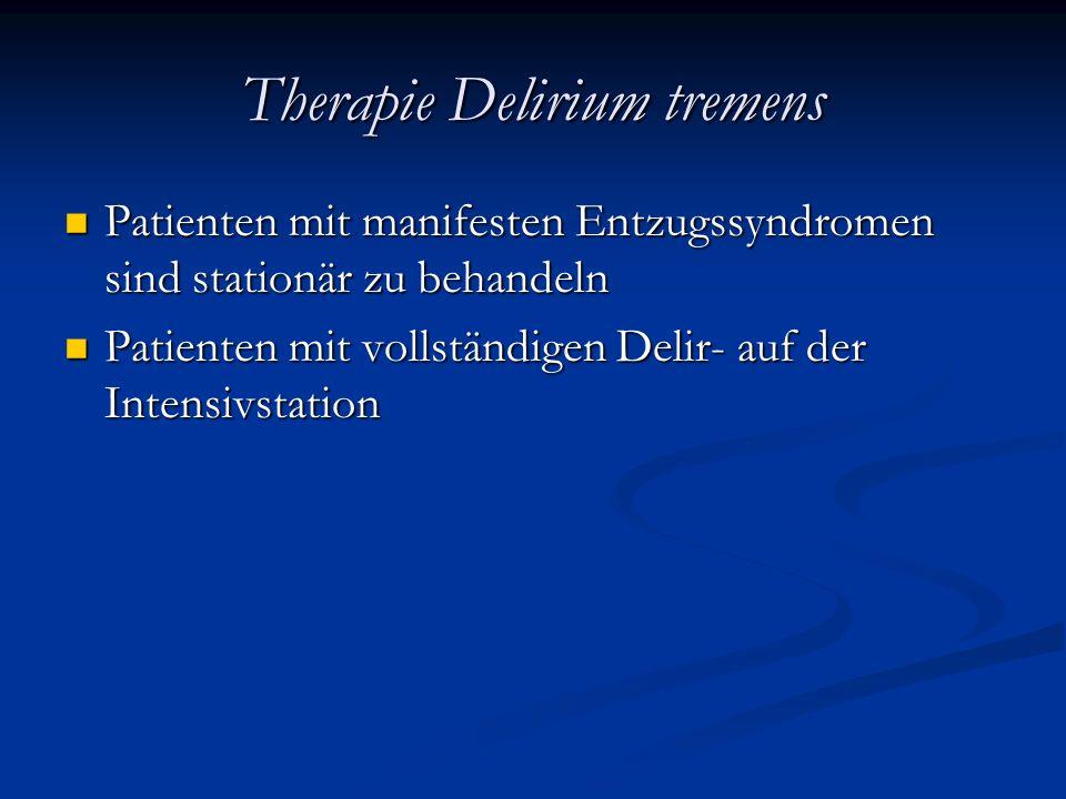 Therapie Delirium tremens