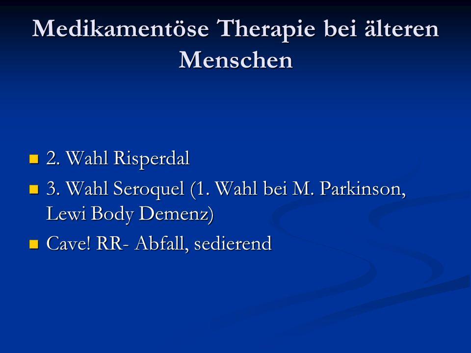 Medikamentöse Therapie bei älteren Menschen