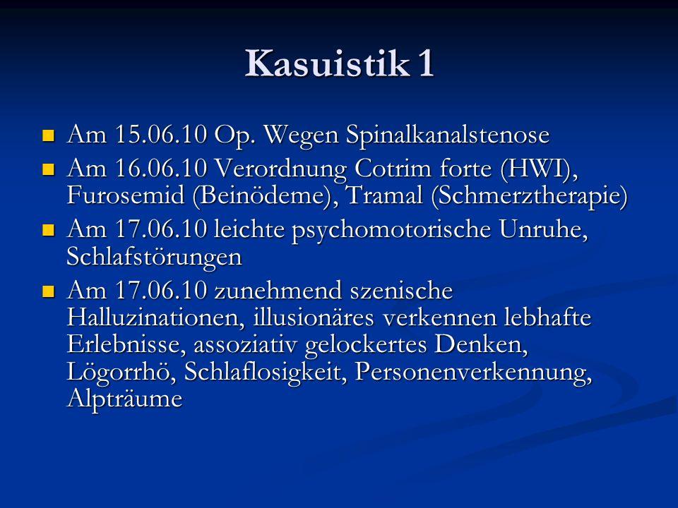 Kasuistik 1 Am 15.06.10 Op. Wegen Spinalkanalstenose