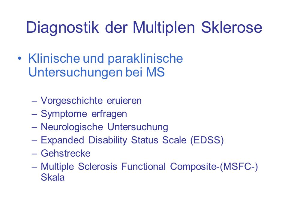 Diagnostik der Multiplen Sklerose