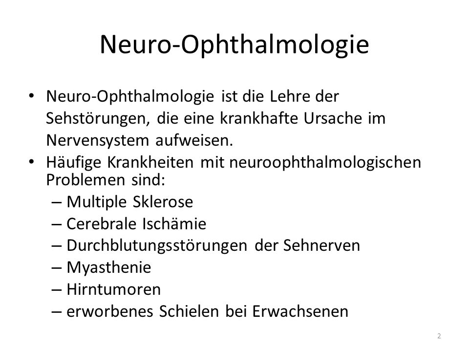 Neuro-Ophthalmologie
