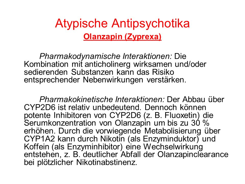Atypische Antipsychotika