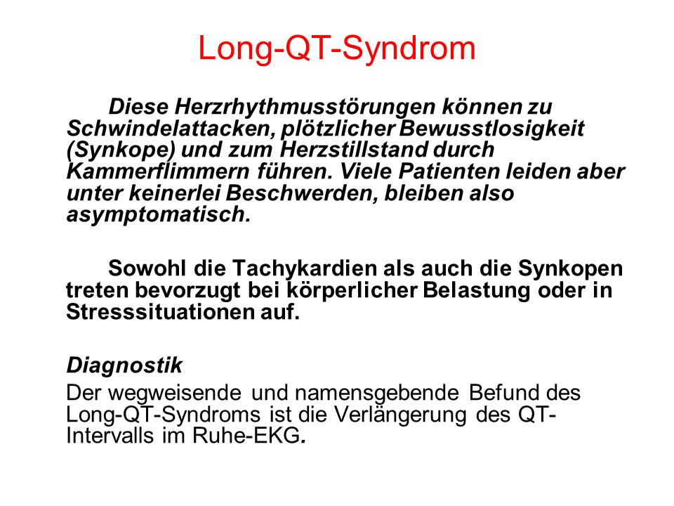 Long-QT-Syndrom