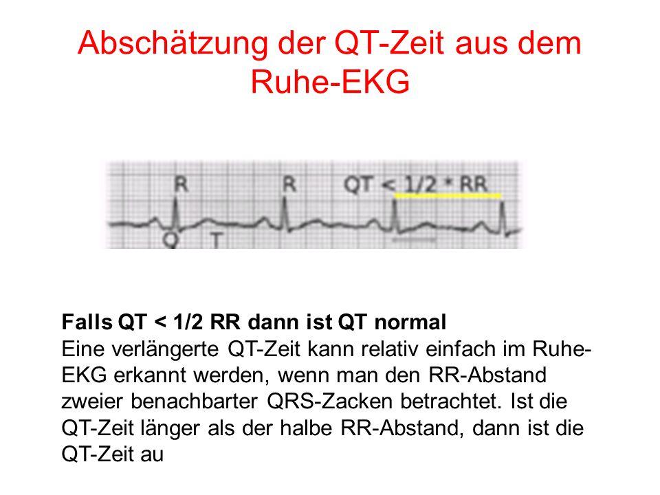 Abschätzung der QT-Zeit aus dem Ruhe-EKG