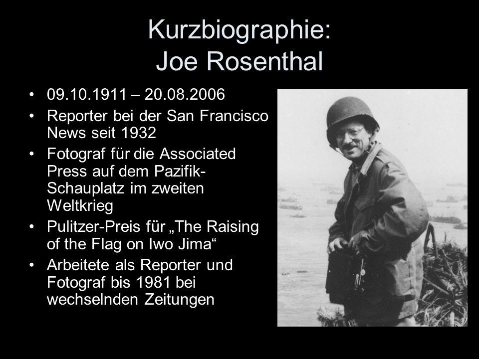 Kurzbiographie: Joe Rosenthal