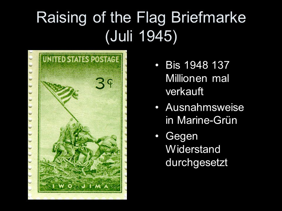 Raising of the Flag Briefmarke (Juli 1945)