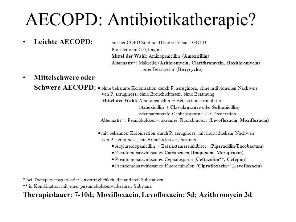 AECOPD: Antibiotikatherapie