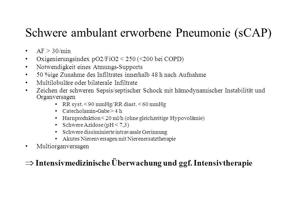 Schwere ambulant erworbene Pneumonie (sCAP)