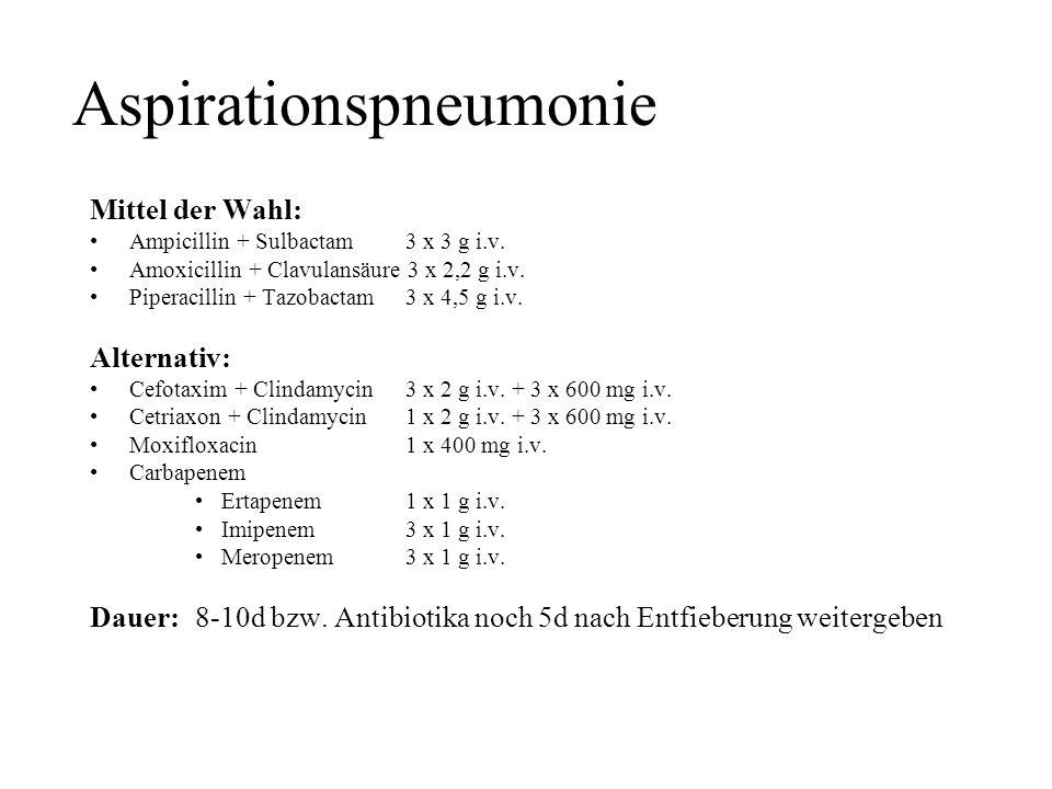 Aspirationspneumonie