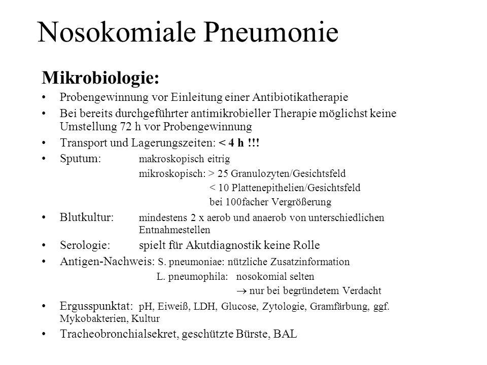 Nosokomiale Pneumonie