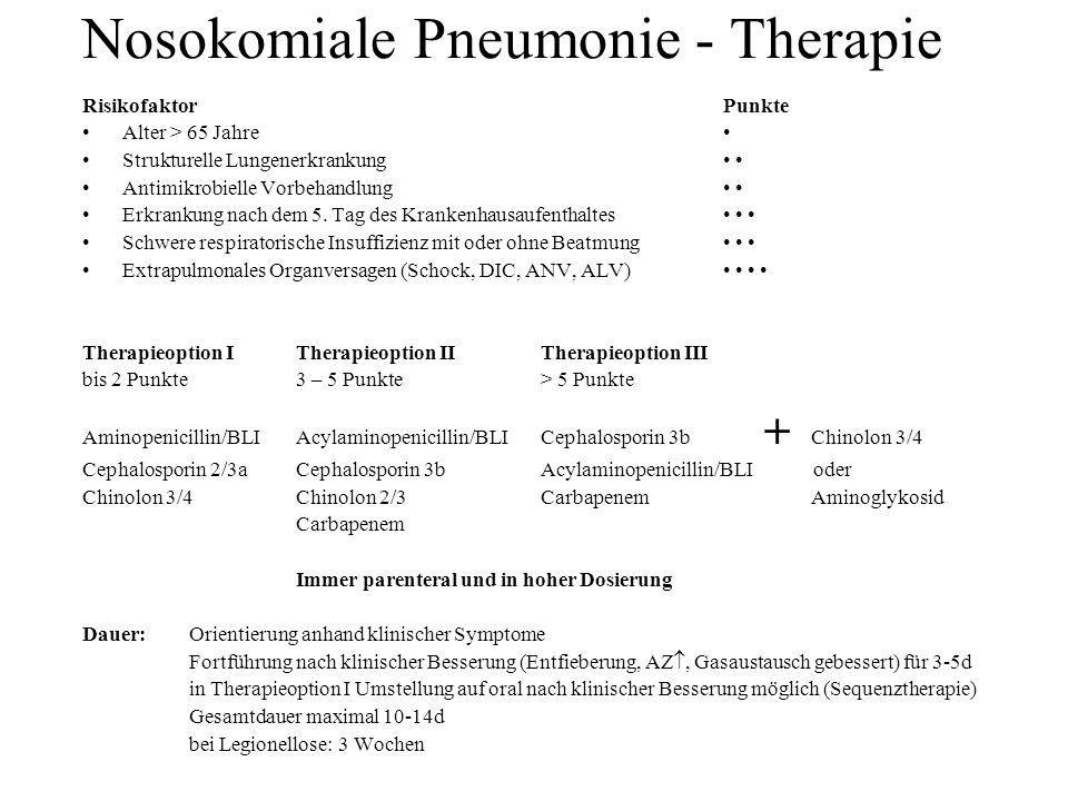 Nosokomiale Pneumonie - Therapie