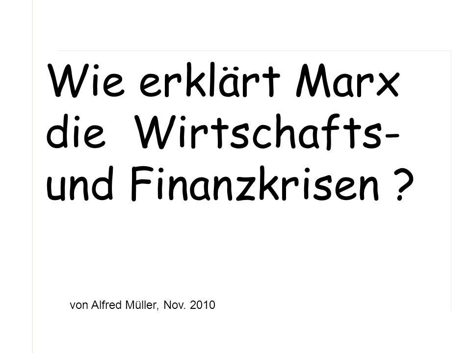 Wie erklärt Marx die Wirtschafts- und Finanzkrisen