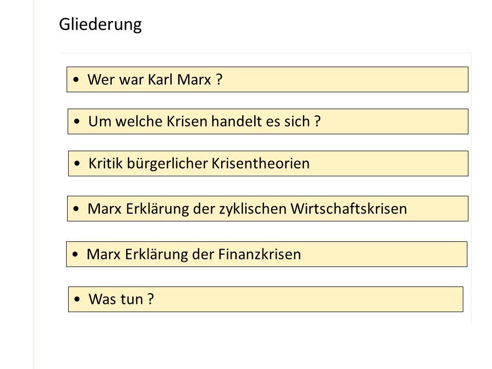Gliederung Wer war Karl Marx Um welche Krisen handelt es sich