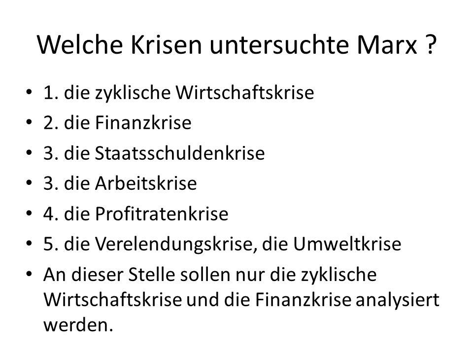 Welche Krisen untersuchte Marx