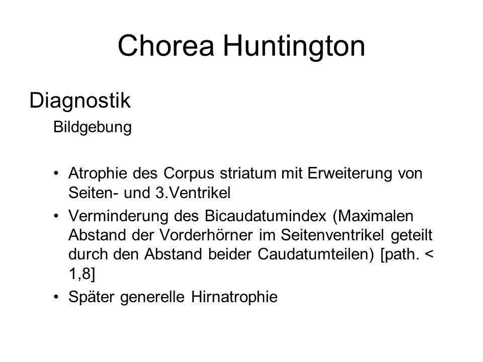 Chorea Huntington Diagnostik Bildgebung