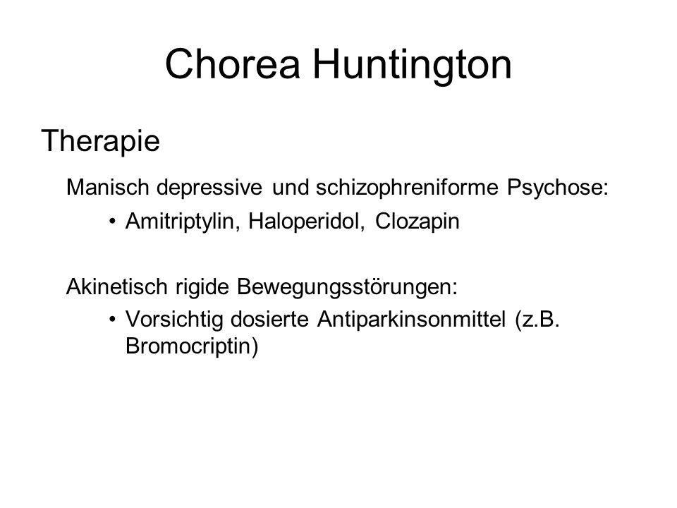 Chorea Huntington Therapie