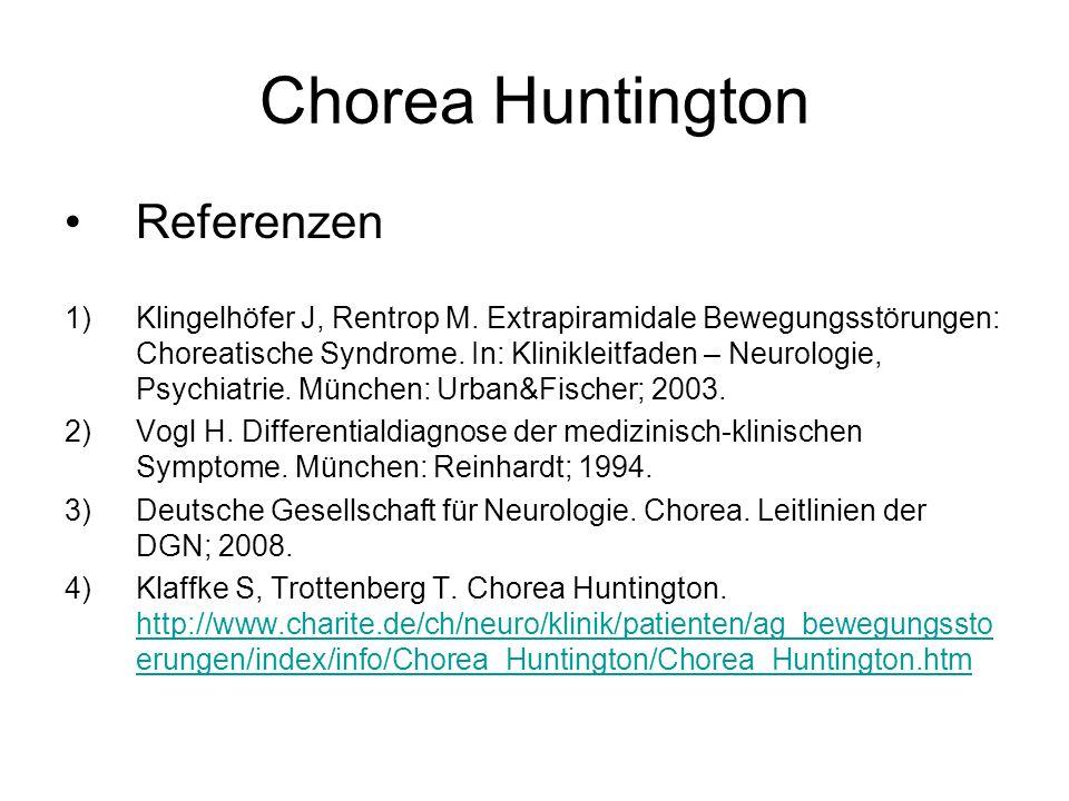 Chorea Huntington Referenzen
