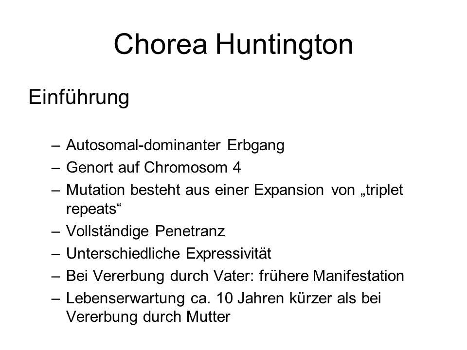 Chorea Huntington Einführung Autosomal-dominanter Erbgang