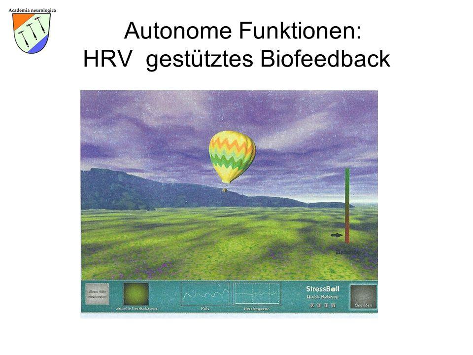 Autonome Funktionen: HRV gestütztes Biofeedback