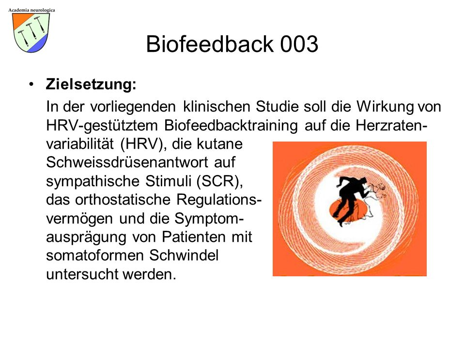 Biofeedback 003 Zielsetzung: