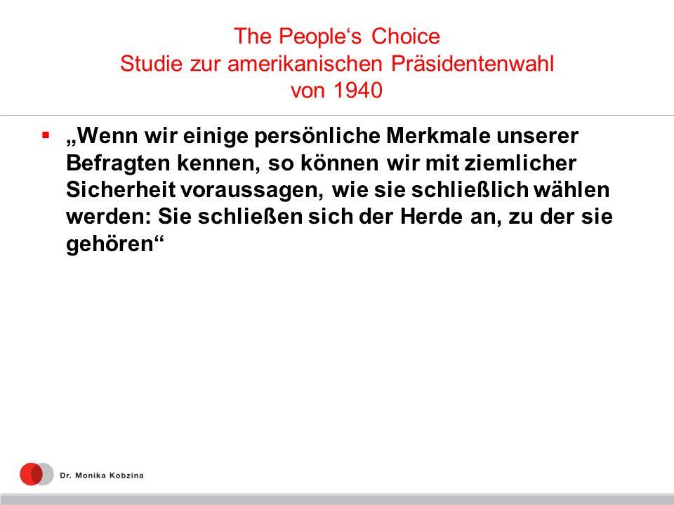 The People's Choice Studie zur amerikanischen Präsidentenwahl von 1940