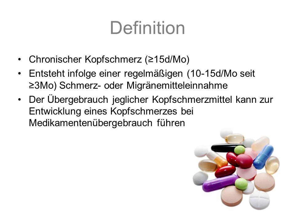Definition Chronischer Kopfschmerz (≥15d/Mo)
