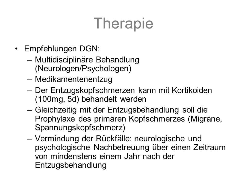 Therapie Empfehlungen DGN:
