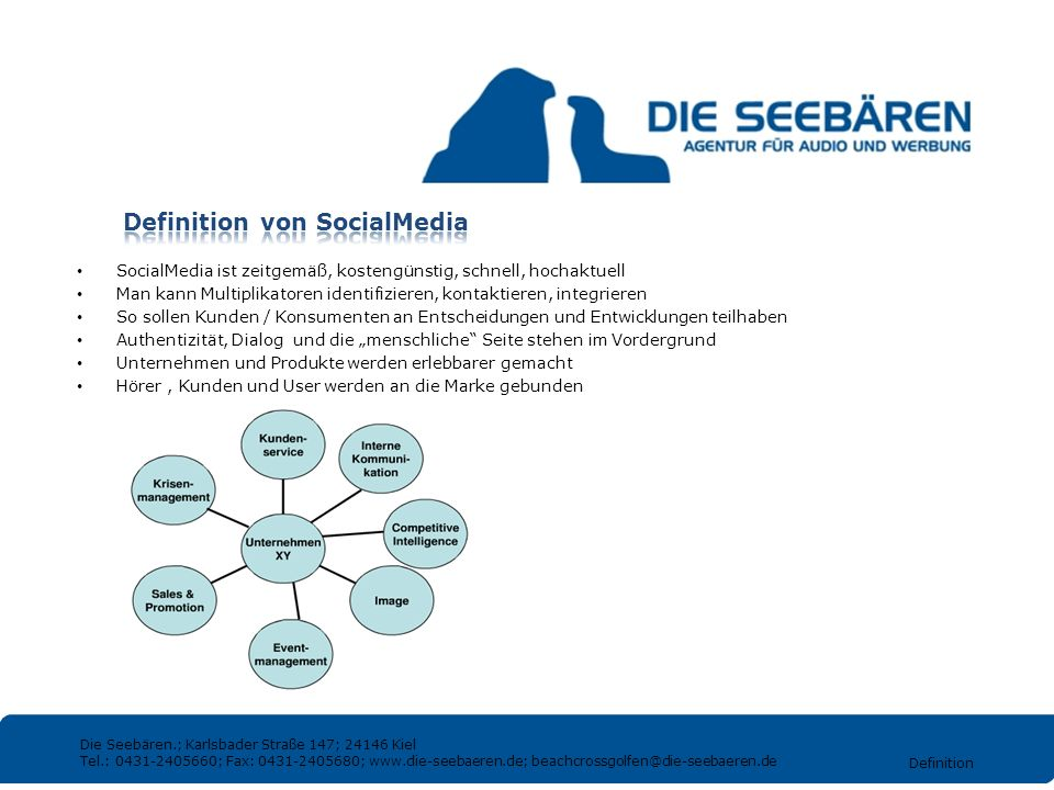 Definition von SocialMedia